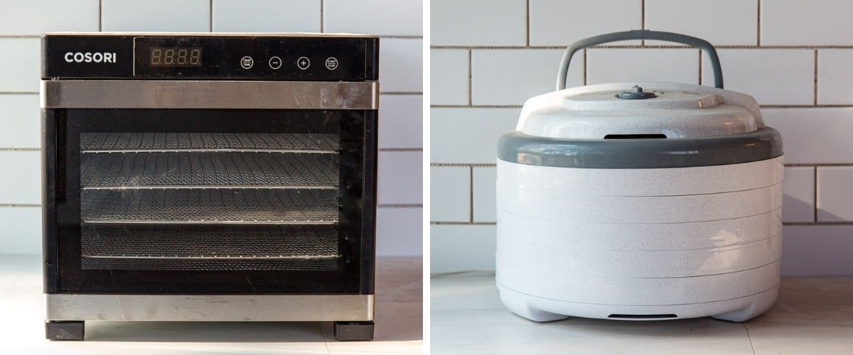 Cosori and Nesco dehydrators side by side