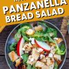 """Pinterest graphic with text overlay reading """"Fall Inspired Panzanella Bread Salad"""""""