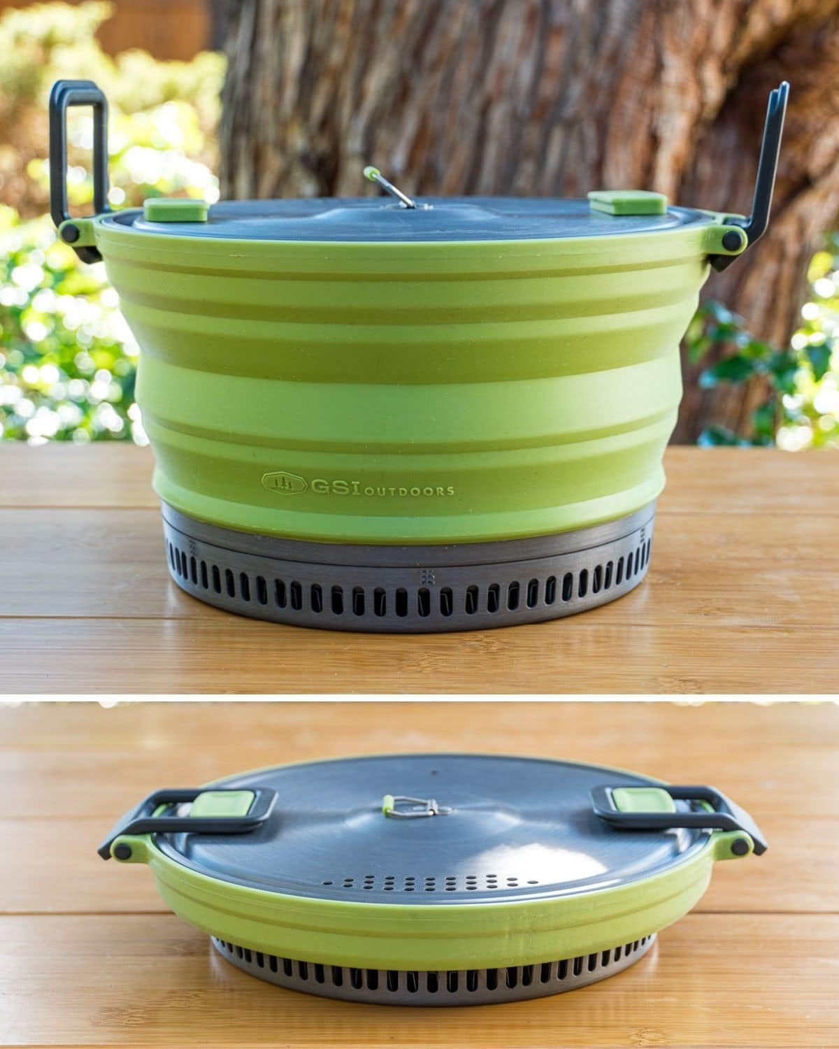 GSI Escape pot - full sized and collapsed