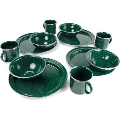 GSI Green Enamelware Set