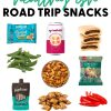 """Pinterest graphic with text overlay reading """"The best healthyish road trip snacks"""""""
