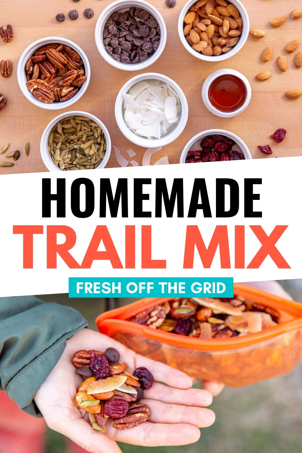 Not only does this trail mix taste better than most store-bought brands, but it's way cheaper too! Similar in texture to a deconstructed KIND bar, this oven-baked mix features maple glazed nuts, tart dried cherries, and dark chocolate chips. This is the ultimate hiking snack that you have to try! via @freshoffthegrid