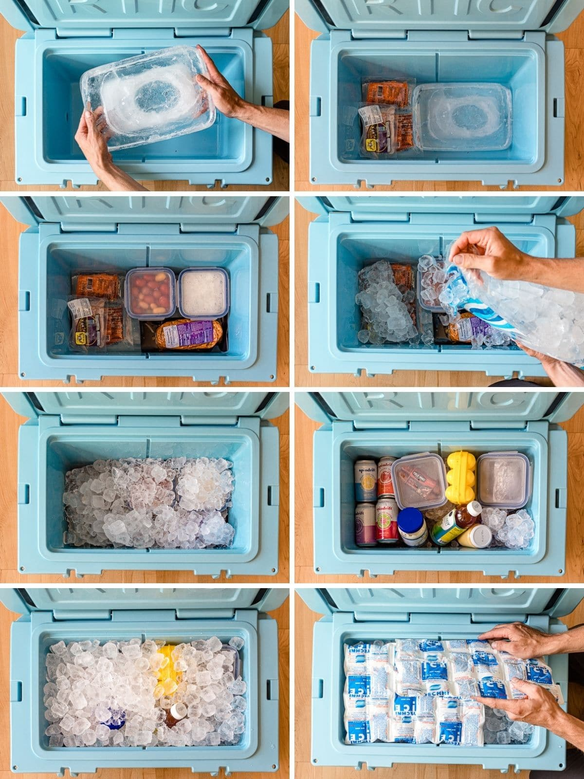 How to pack a cooler step by step photos