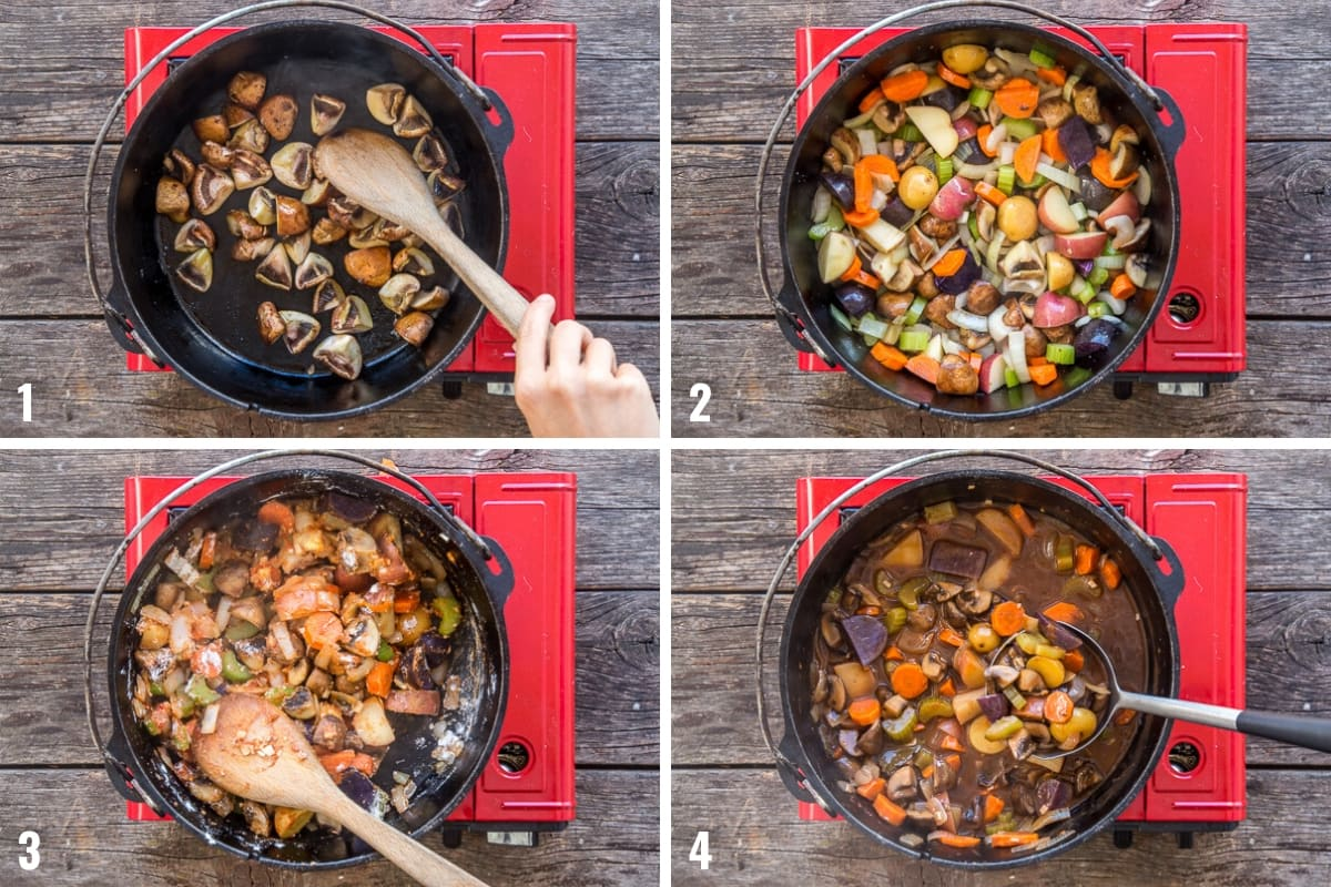 How to make Dutch oven stew step by step photos