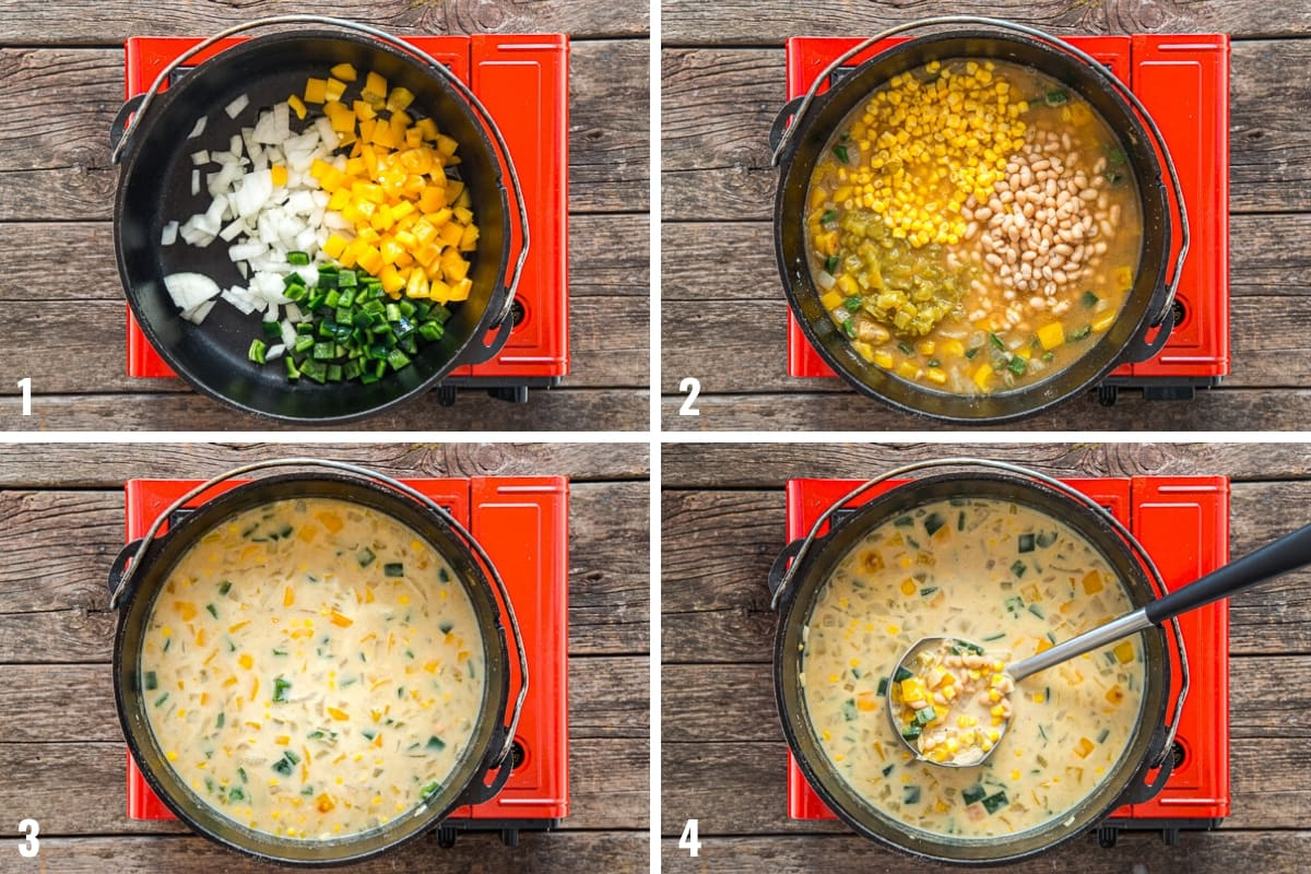 How to make White Bean Chili step by step photos