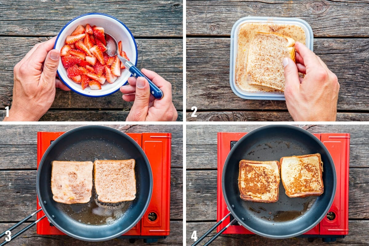 How to make Stuffed French Toast step by step photos