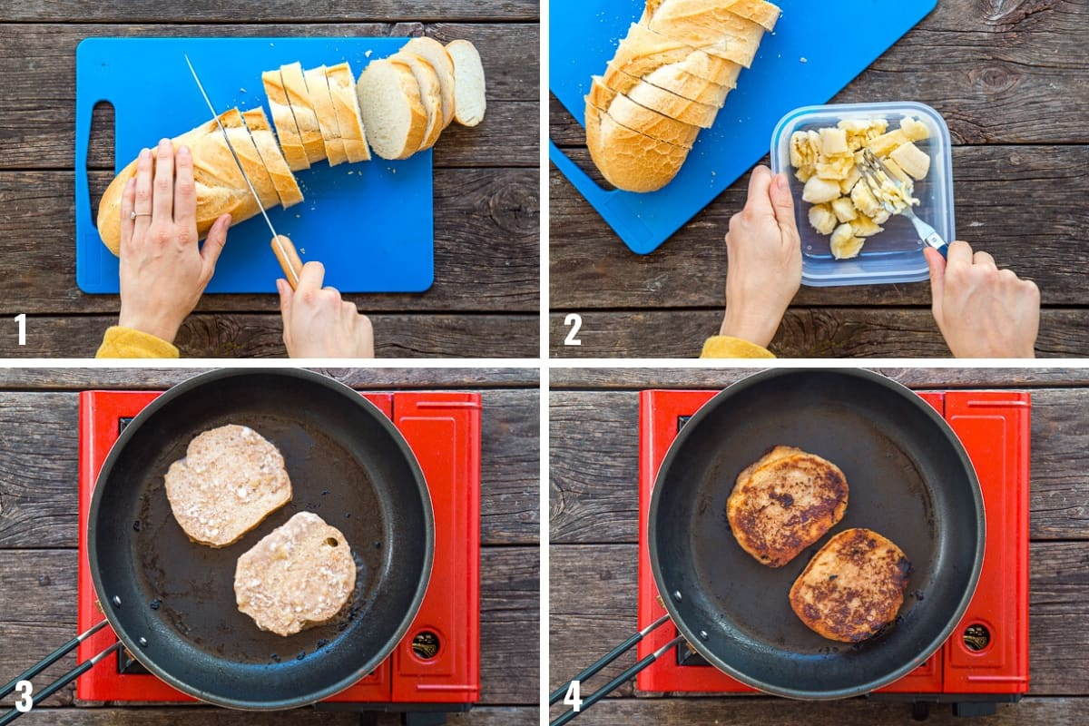 How to make French Toast Sticks step by step photos