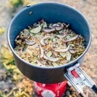 Backpacking food in a pot