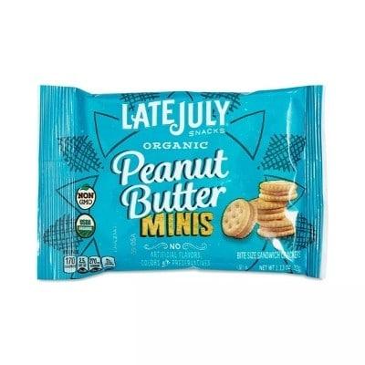 Mini peanut butter crackers bag
