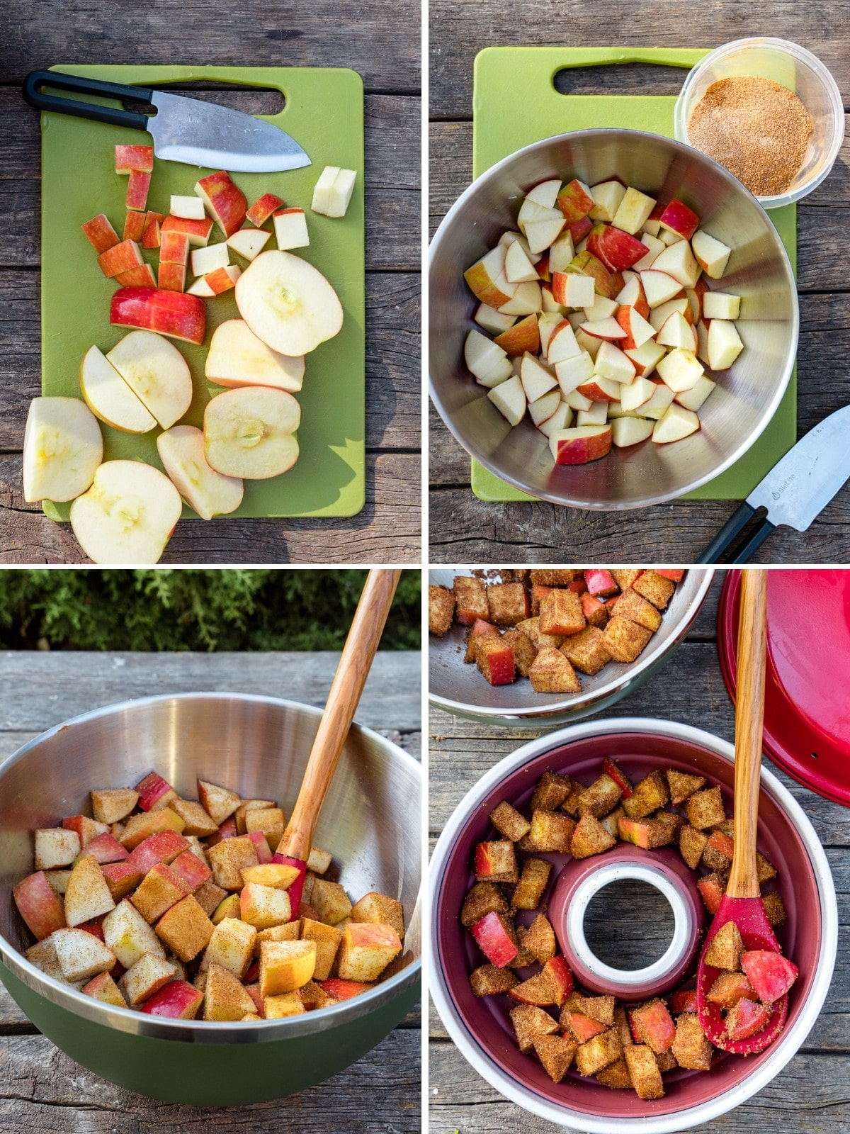 How to make apple cobbler in the omnia oven steps 1-4