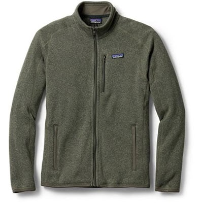 Green zipper patagonia sweater