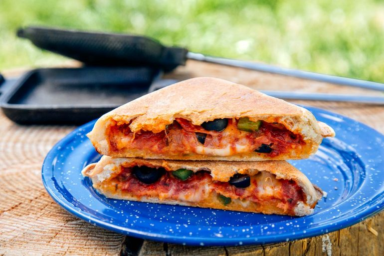 Pie Iron Pizza Pockets
