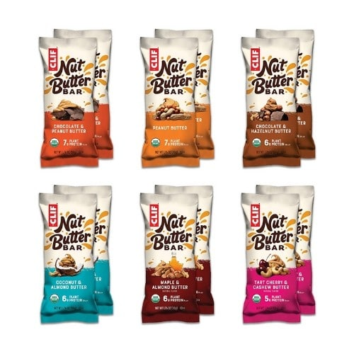 Assorted Clif nut butter bars