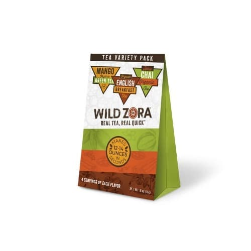 Wild Zora tea packaging