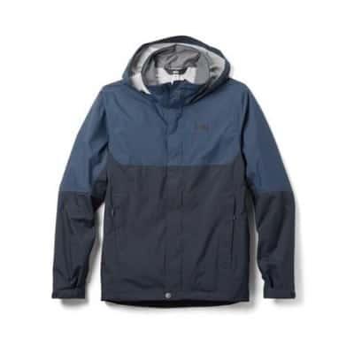 Blue rain jacket product image