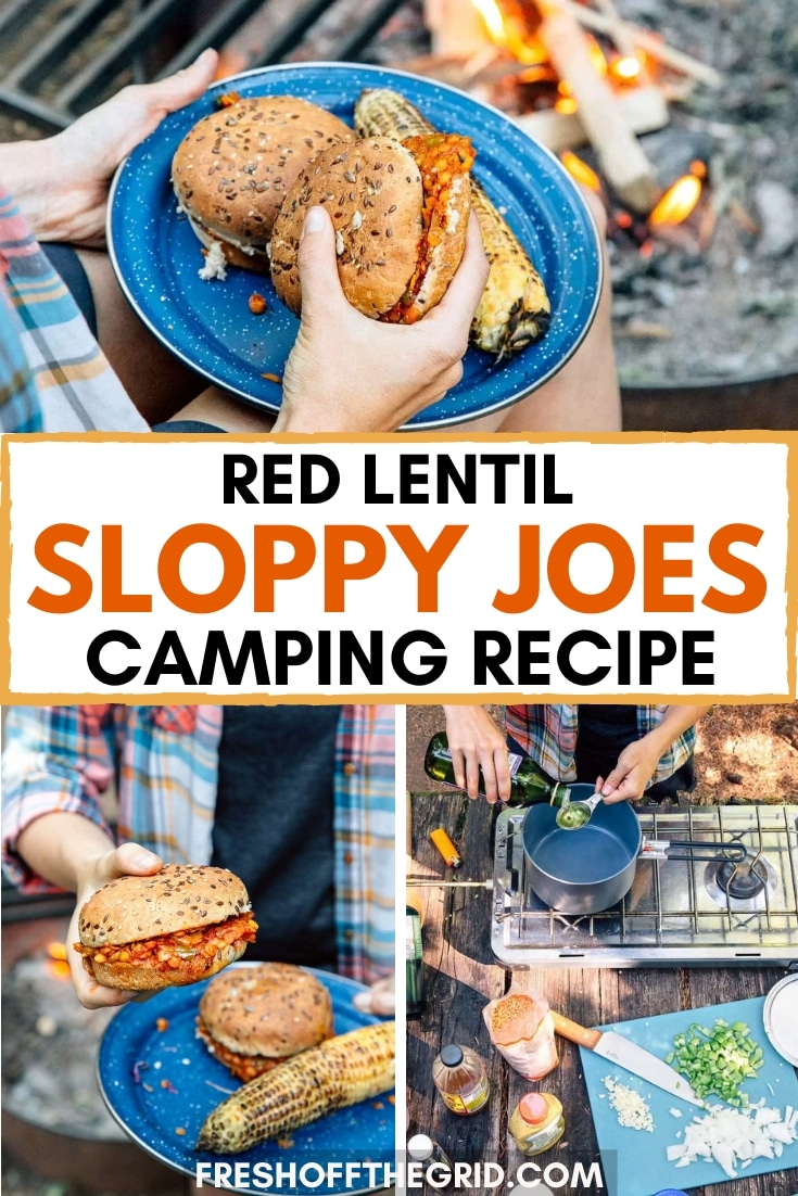 Try these Red Lentil Sloppy Joe's on your next camping trip! These are a great vegan camping meal that cooks in one pot and is FULL of flavor and protein! via @freshoffthegrid