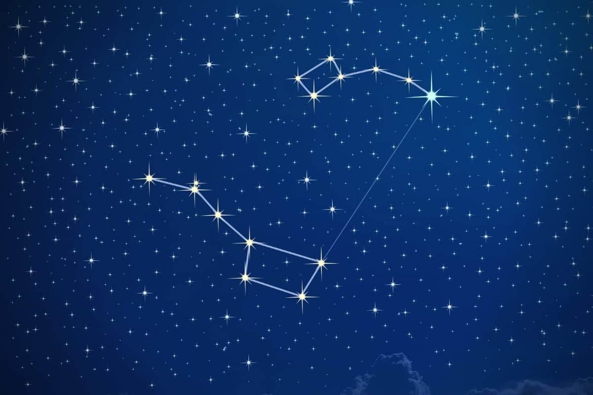 Illustration of the big dipper constellation