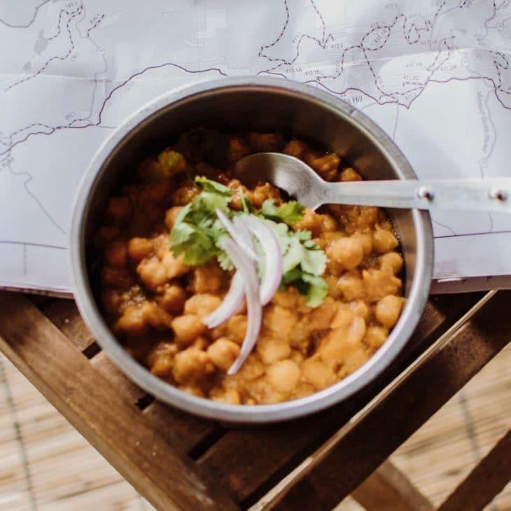 Chana masala in a bowl