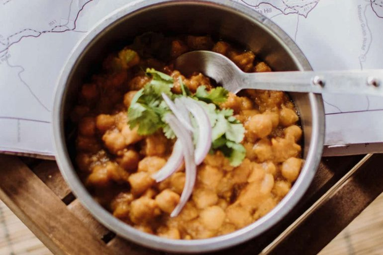 Chana masala in a bowl