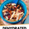 """Pinterest graphic with text overlay reading """"Dehydrated tortilla soup"""""""