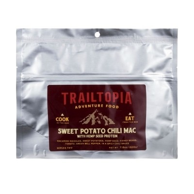Trailtopia sweet potato chili mac