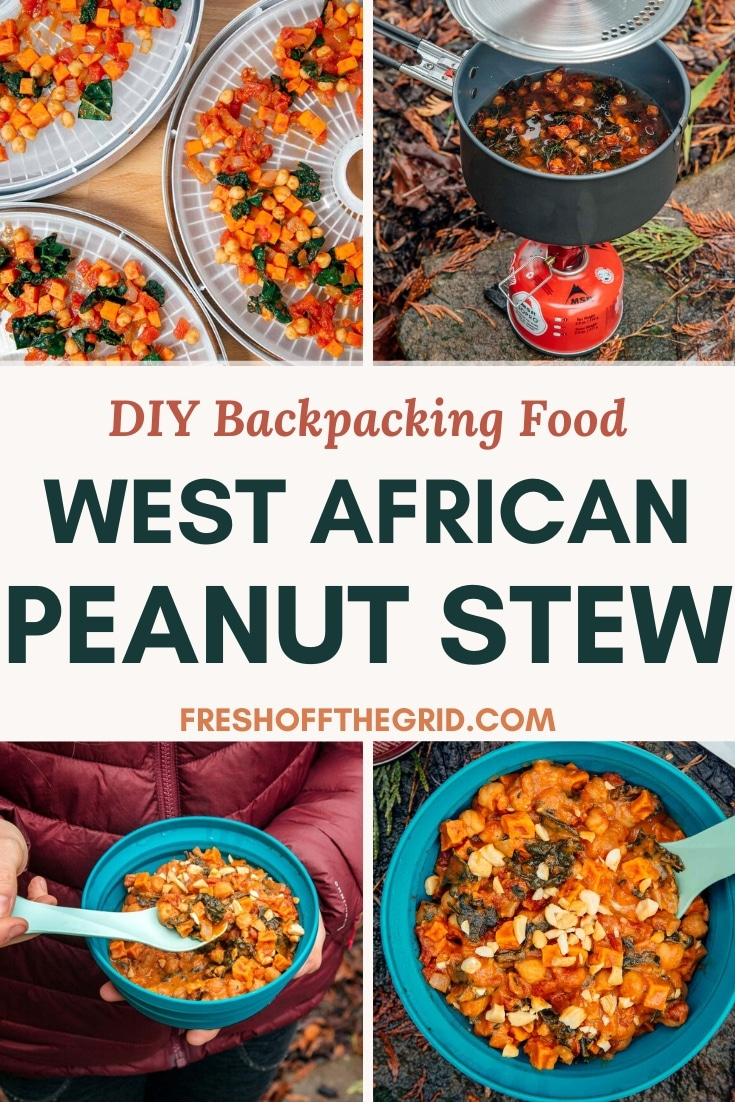 Looking for a new DIY backpacking meal to make for your next hike? Try this West African-inspired Sweet Potato and Peanut Stew! This dehydrated backpacking meal is full of protein and flavor to fuel your adventure, AND it's completely vegan (but you'd never guess it!) Click to get the full recipe and step-by-step instructions. via @freshoffthegrid