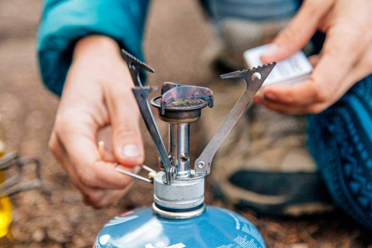 Lighting an MSR Pocket Rocket backpacking stove