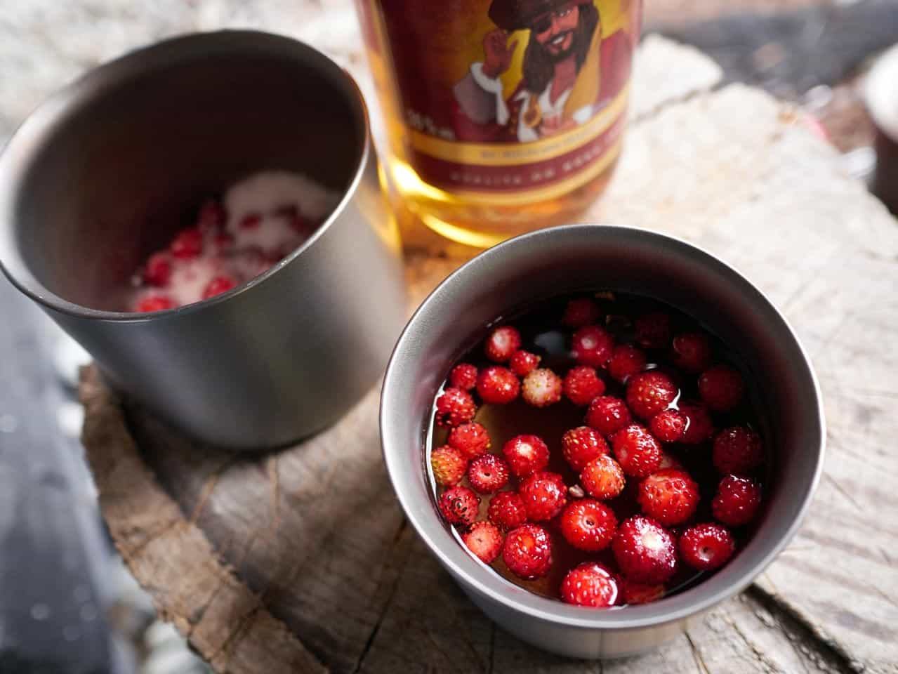 Wild Strawberry Rum Cocktail
